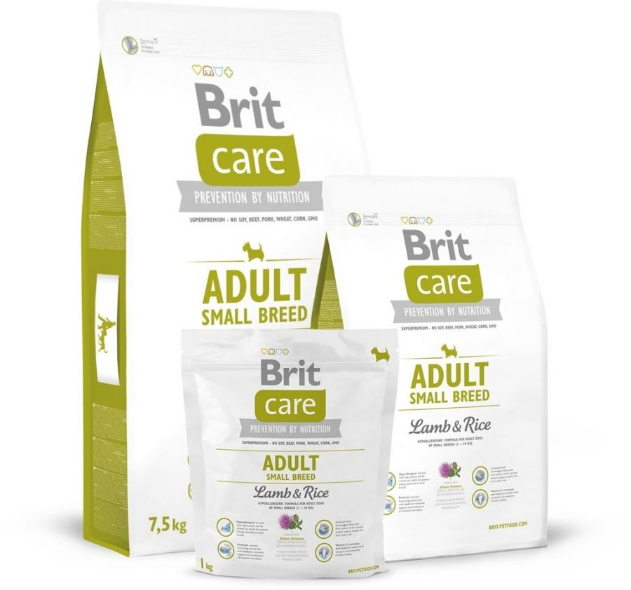 Brit Care Adult Small Breed Lamb & Rice 3kg NEW