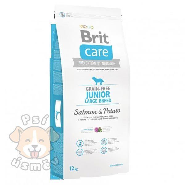 Brit Care Dog Grain-free Junior LB Salmon & Potato 12kg