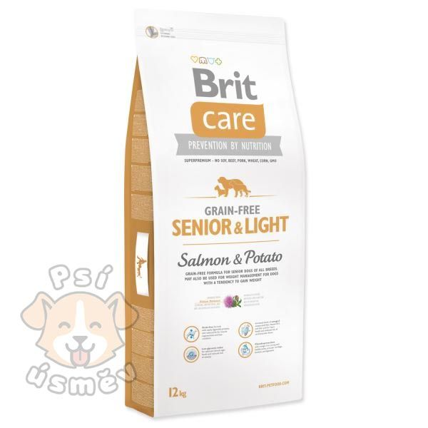 Brit Care Dog Grain-free Senior Salmon & Potato 12kg