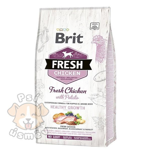 Brit Fresh Dog Chicken&Potato Puppy Healthy Growth 12kg
