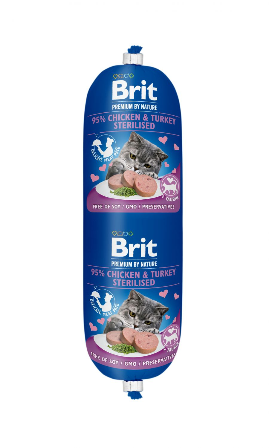 Brit Premium by Nature Sausage CAT Chicken & Turkey Sterilised 180 g