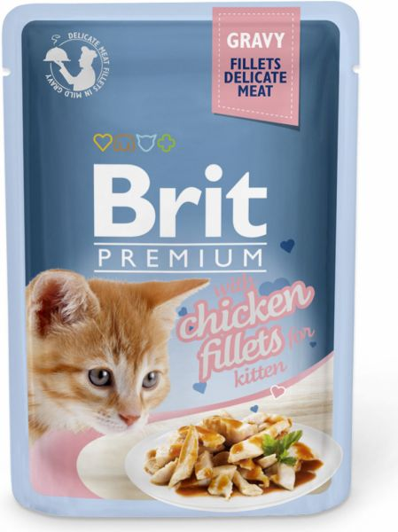 Brit Premium Cat Delicate Fillets in Gravy with Beef 85g