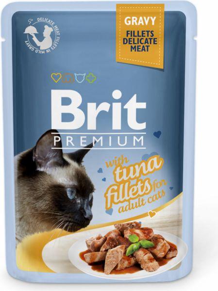 Brit Premium Cat Delicate Fillets in Gravy with Tuna 85g