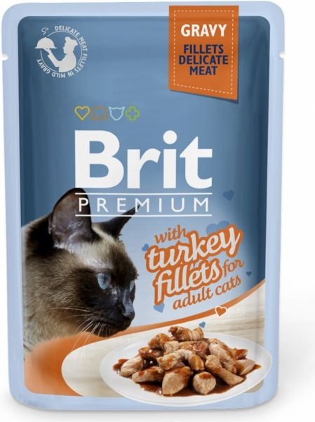 Brit Premium Cat Delicate Fillets in Gravy with Turkey 85g
