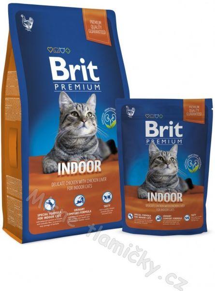Brit Premium Cat Indoor 8kg + 1,5kg ZDARMA