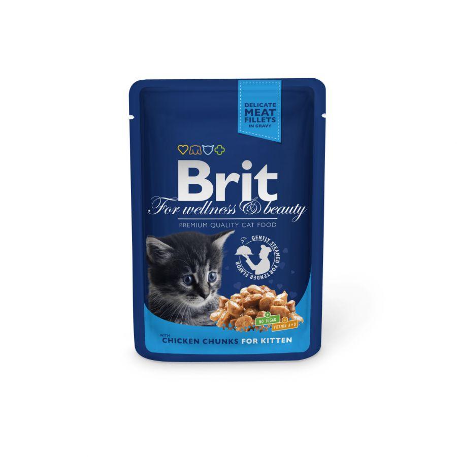 Brit Premium Cat kapsička chicken chunks for Kitten 100g