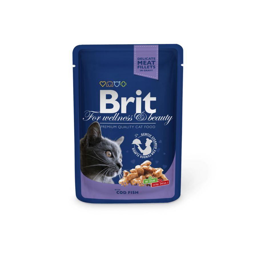 Brit Premium Cat kapsička treska 100g