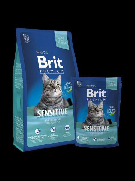 Brit Premium Cat Sensitive 8kg + 1,5kg ZDARMA