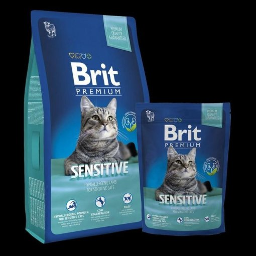 Brit Premium Cat Sensitive 8kg + 1,5kg ZDARMA