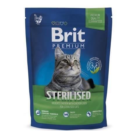 Brit Premium Cat Sterilised 300g + kapsička