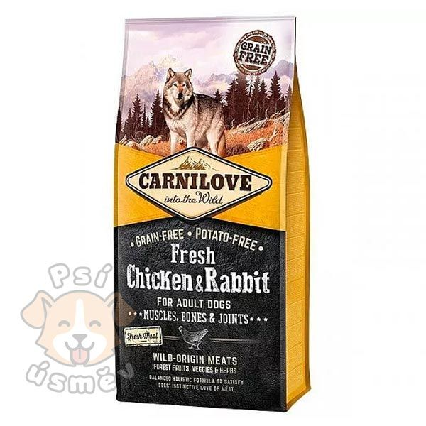 Carnilove Dog Fresh Chicken & Rabbit for Adult 12kg