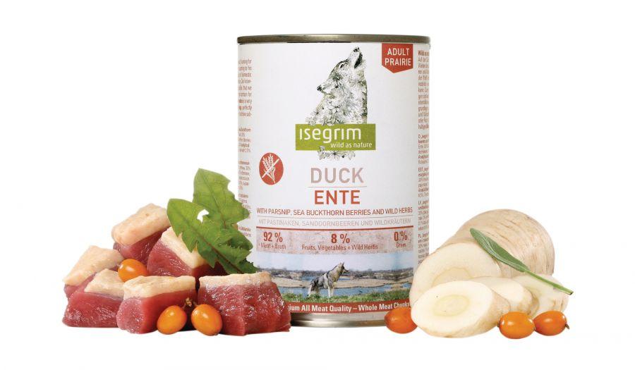 ISEGRIM Adult Prairie: Kachna s pastinákem, rakytníkem a bylinkami 800 g