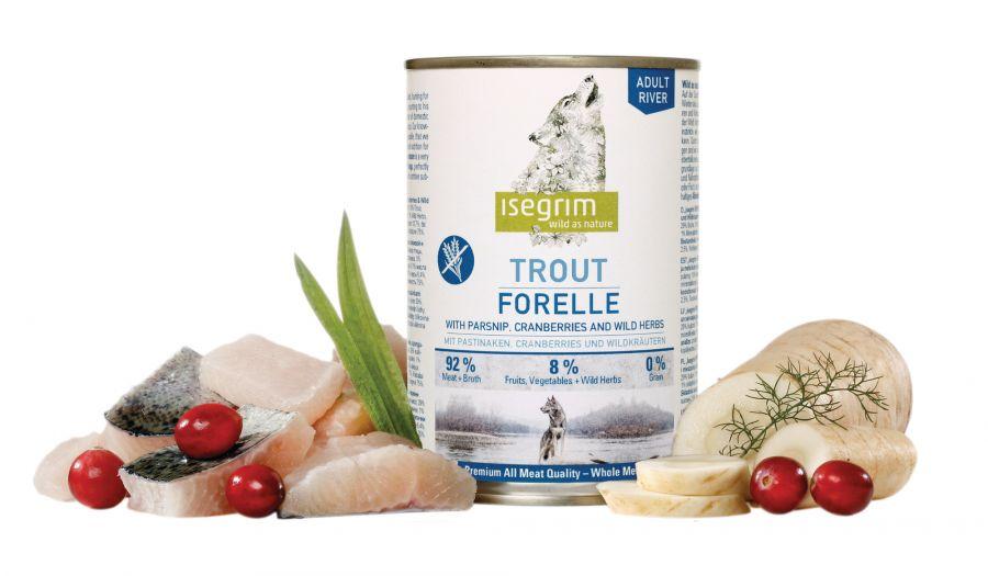 ISEGRIM Adult River: Pstruh s pastinákem a brusinkami 400 g