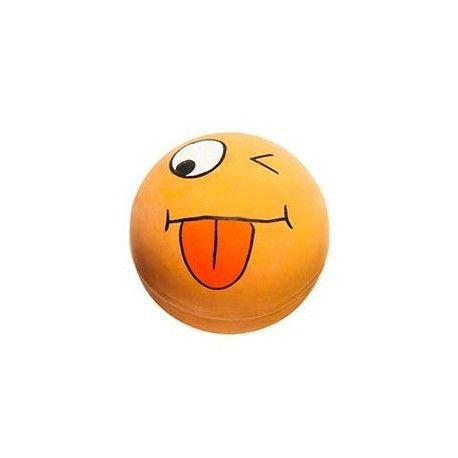 Míček Smajlík oranžový 6cm latex