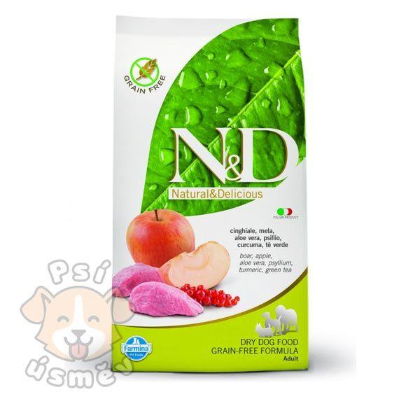 N&D GF DOG Adult Boar & Apple 12kg
