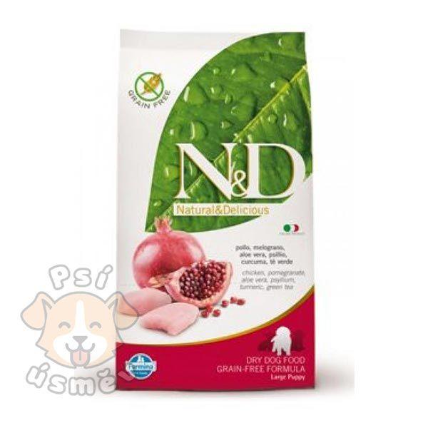 N&D GF DOG Puppy Maxi Chicken & Pomegr 12kg