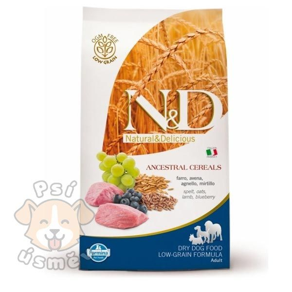 N&D LG DOG Adult M/L Lamb & Blueberry 2x12kg - 24kg