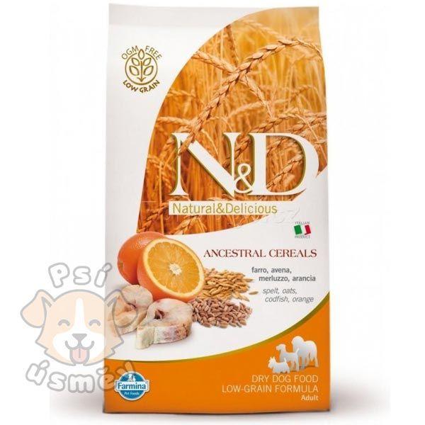 N&D LG DOG Adult Maxi Codfish & Orange 12kg