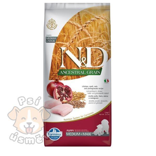 N&D LG DOG Puppy Chicken & Pomegranate 2x12kg - 24kg
