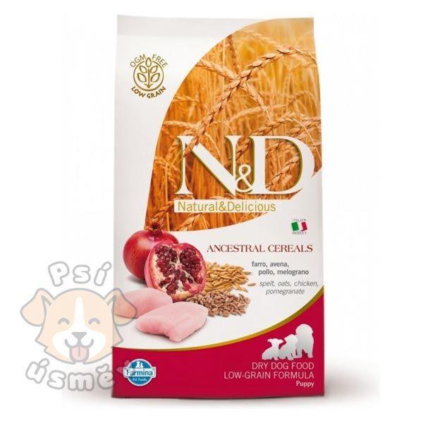 N&D LG DOG Puppy Maxi Chicken & Pomegr 12kg
