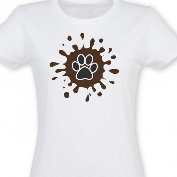 Psí tlapka & bláto - dámské tričko se psy