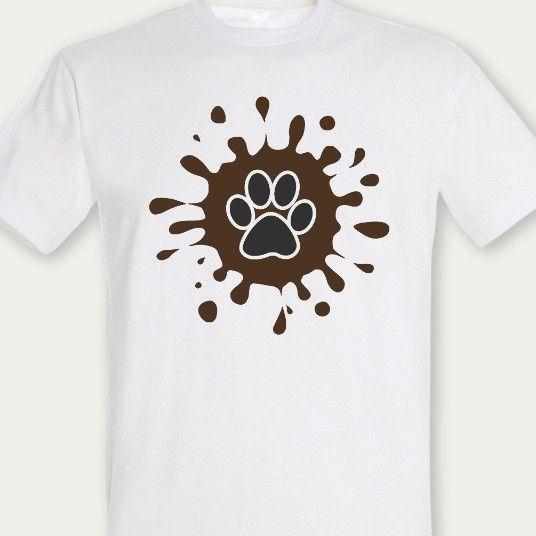 Psí tlapka & bláto - pánské tričko se psy