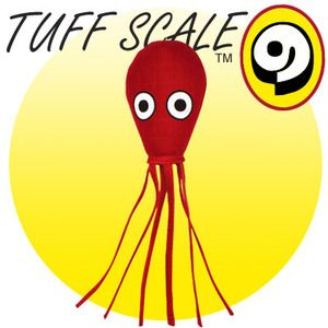TUFFY Ocean Creature Squid red