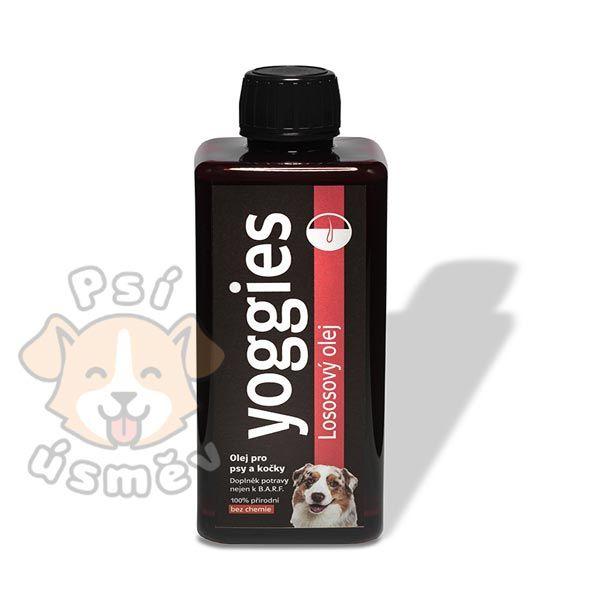 Yoggies Lososový olej pro psy a kočky 500 ml