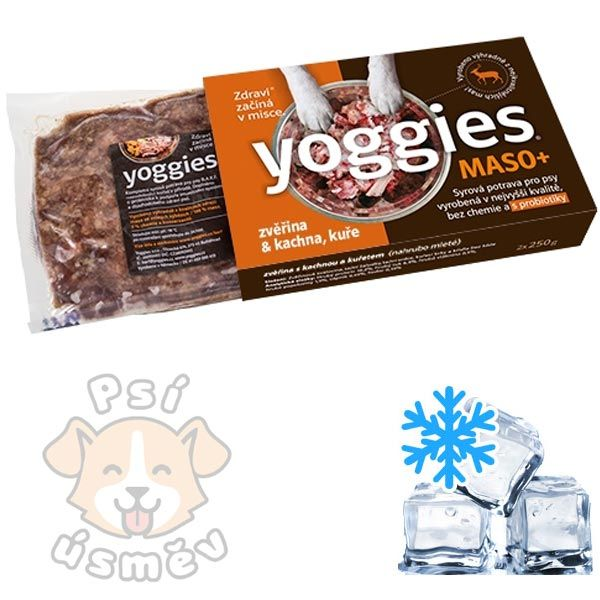 Yoggies MASO+ zvěřina, krůta, kuře